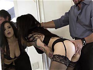 Nylons Sn three sizzling Katrina Jade boned doggy style in pantyhose