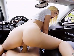 Bailey Brooke torn up deep in her vagina in the car