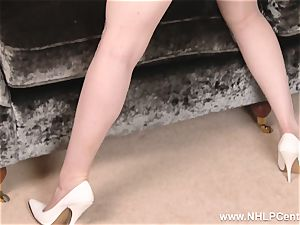 big-titted ginger-haired masturbates in lingerie antique nylons