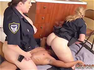 oiled up bi-racial black male squatting in home gets our cougar officers squatting on