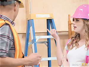 Dolly Leigh romped on the job
