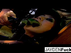 Jayden gets busy on a fortunate solo schlong