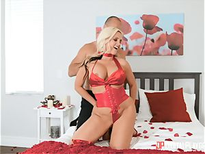 Valentine puss banging for Alena Croft