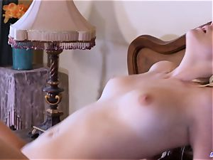 Taboo nubile railing aged fellow in horny couple