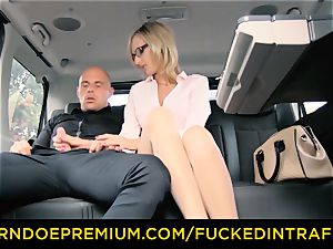 pounded IN TRAFFIC - dirty crazy pop-shot for milf