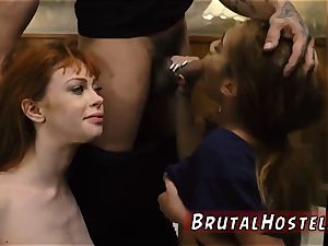 young sub marvelous young femmes, Alexa Nova and Kendall woods, take a train-ride to
