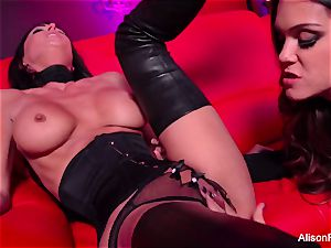 crimson room and super-hot strap-on act