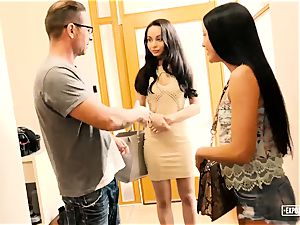 ExposedCasting - anal three-way audition with euro honeys
