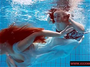 meaty titted hairy and tattoed teens in the pool