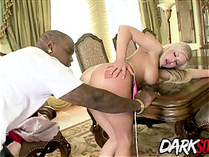 blond sweetheart Andi Anderson interracial booty punishment