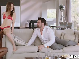 VIXEN Riley Reid has mighty 3some with Ana Foxxx and bf
