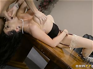 super-naughty dark-haired Romi Rain boinked in her tight poon
