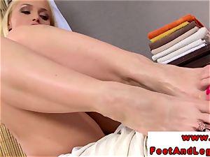Kathia Nobili luvs taunting with her feet