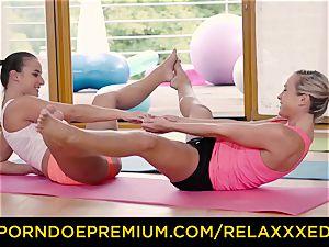 RELAXXXED lezzie Amirah Adara plowed on yoga class