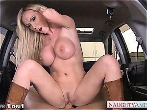 naughty Nikki Benz in pov getting her mummy labia boned