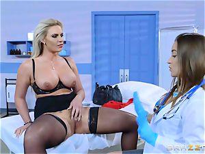 insane patient Phoenix Marie girly-girl ravage with Dani Daniels