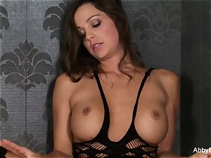 Abigail Mac catapults a pink plaything in her vagina til she pops