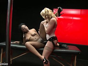 harsh Kathia Nobili pushes her cable on fuck-stick deep down her playmate facehole