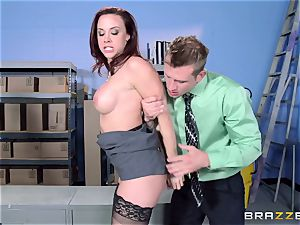 Chanel Preston pounds her jaw-dropping man at work