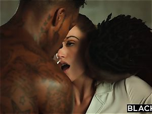 BLACKED Tori dark-hued Is greased Up And dominated By two BBCs