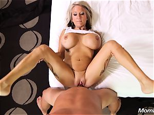 hefty boobies milf gets anal ravage and facial cumshot