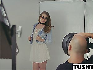 very first anal invasion for model Elena Koshka