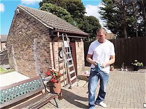 Window cleaner porks wonderful Carla Cox