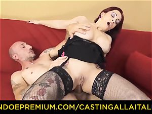audition ALLA ITALIANA - busty newcomer goes for anal invasion fuck-fest