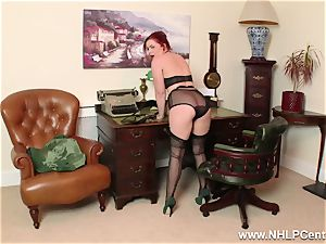 sandy-haired is antique nylon fetish mega-bitch at wank Off Club