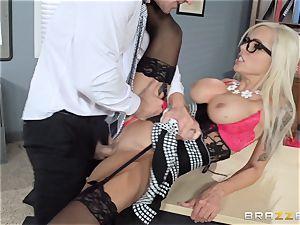 hot boss Nina Elle entices her employee