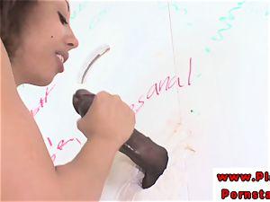 Alexa Cruz black fellates thru gloryhole