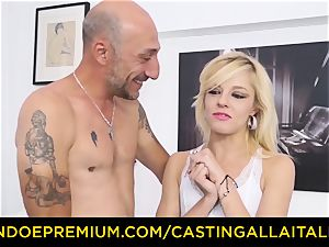 audition ALLA ITALIANA sizzling ash-blonde splatters in firm anal invasion