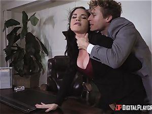 Dana DeArmond vulva ravaged in the office