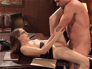 wild Nickey Huntsman penetrates across a desk