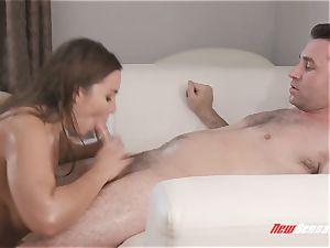 Natasha ultra-cute hard-core massive tit massage