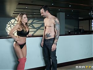Britney Amber bowling and labia penetrating