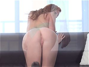sandy-haired Alex Tanner tongued out at her casting