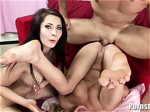 This super-fucking-hot threeway concludes Up In Getting bootie nutted