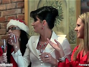 buzzed office doll sapphic soiree with pissing