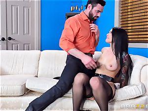 nasty Katrina Jade bouncing on a hefty pecker