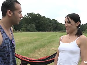 LA new-cummer - French newcomer gets poked and facialized