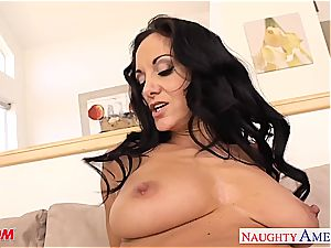 brunette mother in stocking Ava Addams riding pipe