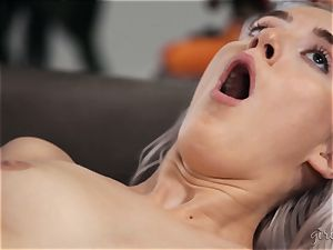 dumping girly-girl fun with Abigail Mac and Cadence Lux