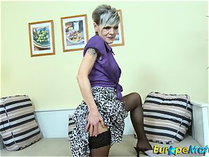 EuropeMaturE marvelous grandmother Ivana Solo finger-tickling