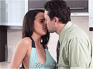 bare sweetheart Dillion Harper plays with cock