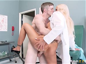 ginormous unloaded medic Nina Elle entices her favourite patient