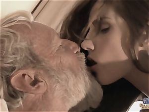 Therapy with senior prick for a sick nubile girl