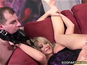 hotwife mega-slut Leya Falcon takes anal invasion ravaging