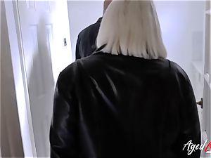 AgedLovE Mature female Lacey Starr gargling rock hard dick