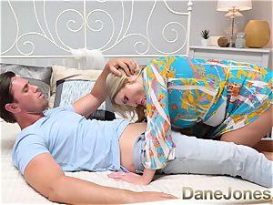 Dane Jones humungous bosoms Scottish blonde Georgie Lyall